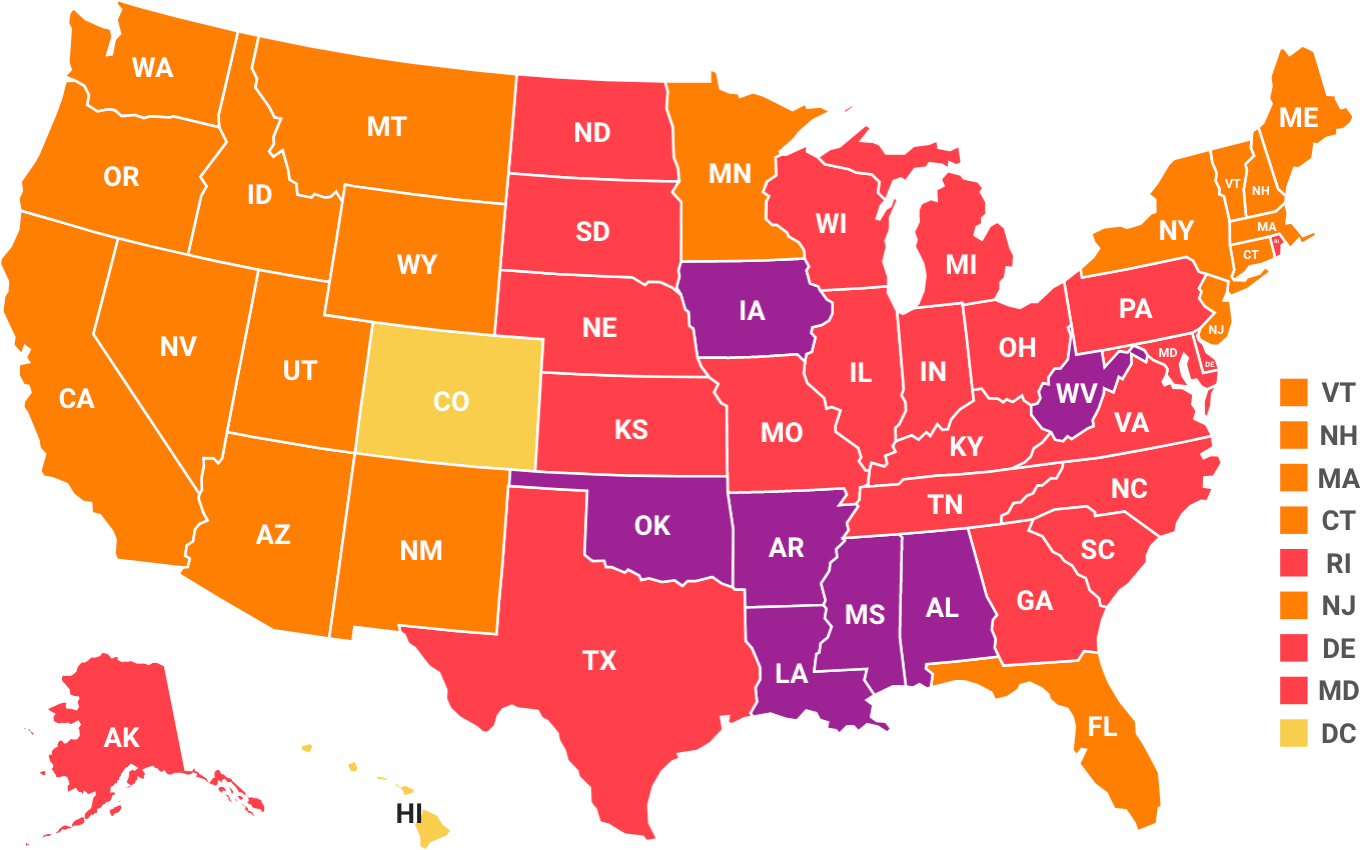 Obesity Map Of America Obesity Rates & Trend Data – The State of Obesity