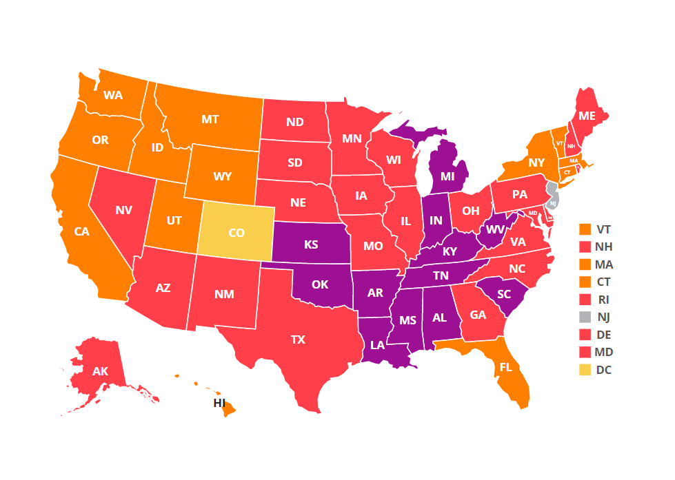 A map of adult obesity rates in the U.S.