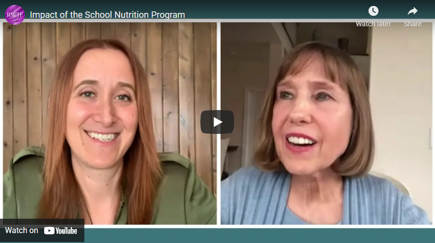 Jamie Bussel and Dr. Mary Story discuss school meals