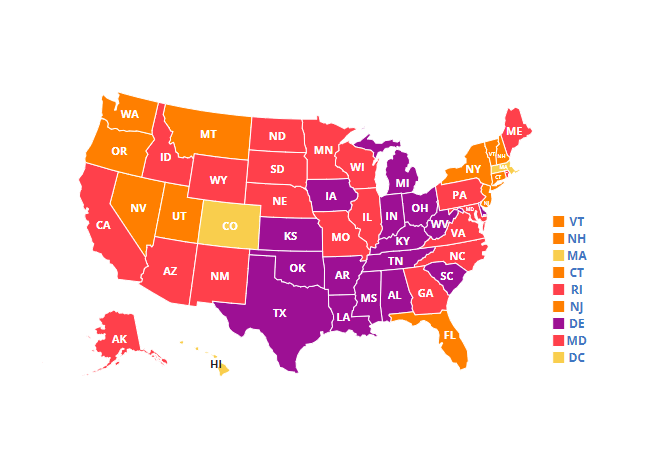Map of adult obesity rates